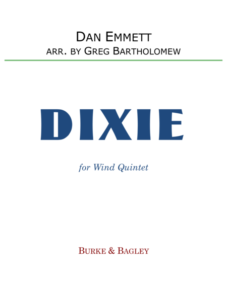 Dixie for wind quintet