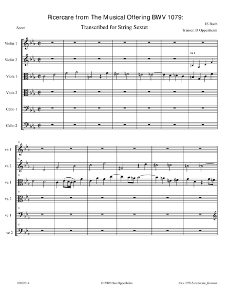 Bach:Ricercare a 6 from The Musical Offering BWV 1079