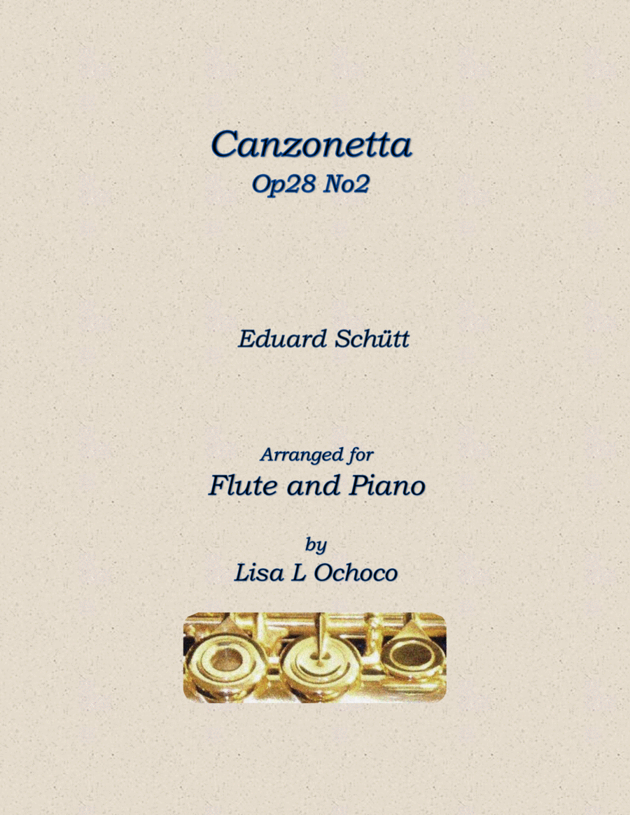 Canzonetta Op28 No2 for Flute and Piano