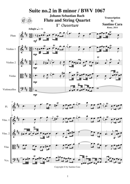 J.S.Bach-Suite no.2 in B minor-BWV1067- Flute and String Quartet