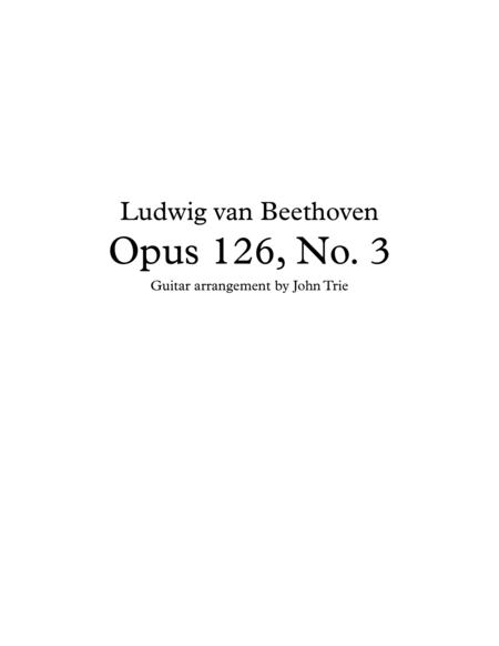 Opus 126 no. 3 - guitar tablature