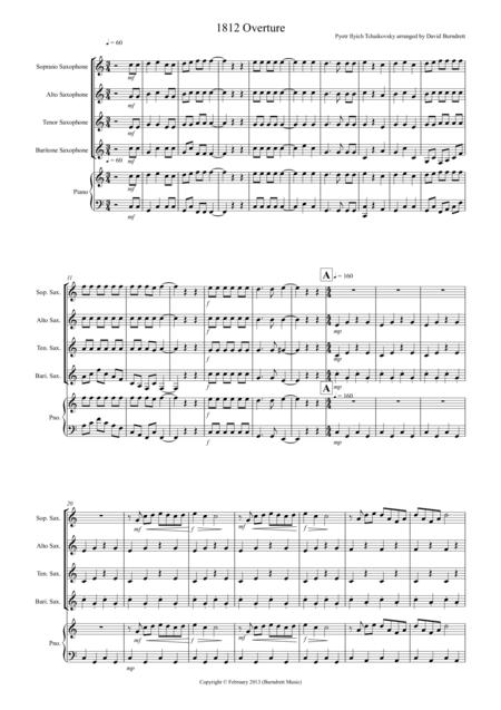 1812 Overture for Saxophone Quartet
