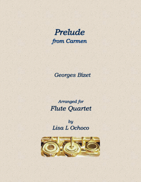 Overture from Carmen for Flute Quartet
