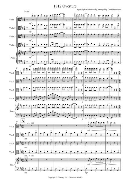 1812 Overture for Viola Quartet