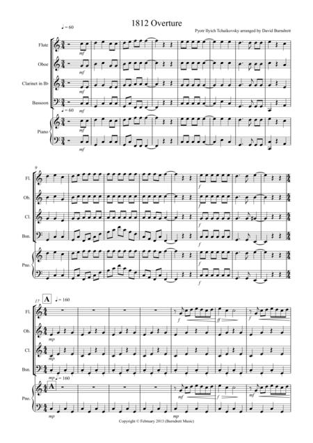 1812 Overture for Wind Quartet
