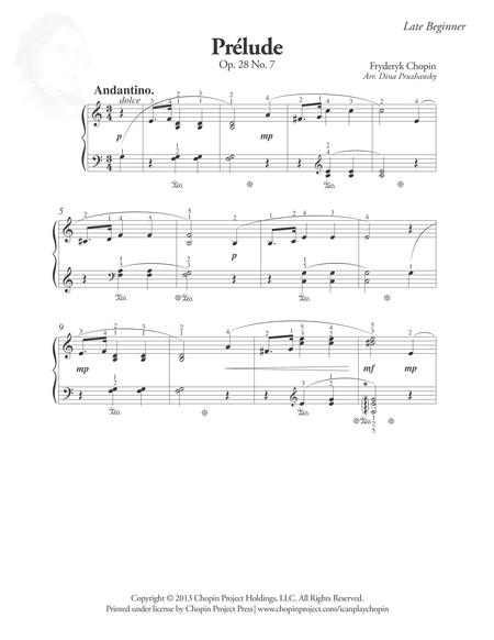 Prelude Op. 28 No. 7
