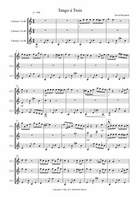 Tango á Trois for Clarinet Trio