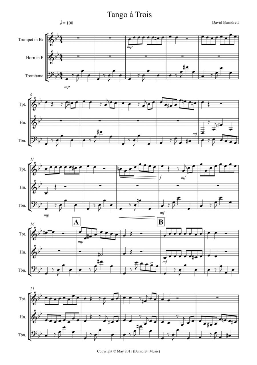 Tango á Trois for Brass Trio