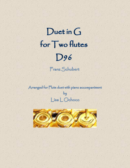 Duet in G, D96 for Two Flutes and Piano