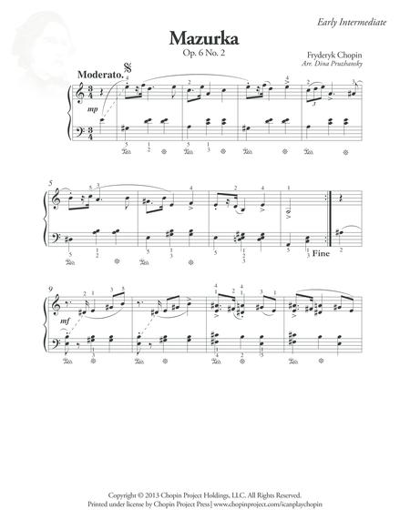 Mazurka Op. 6 No. 2