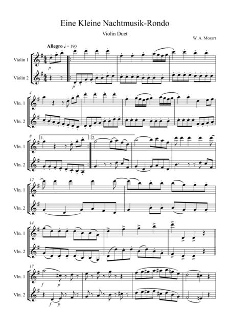 Eine Kleine Nachtmusik – Rondo: Violin Duet