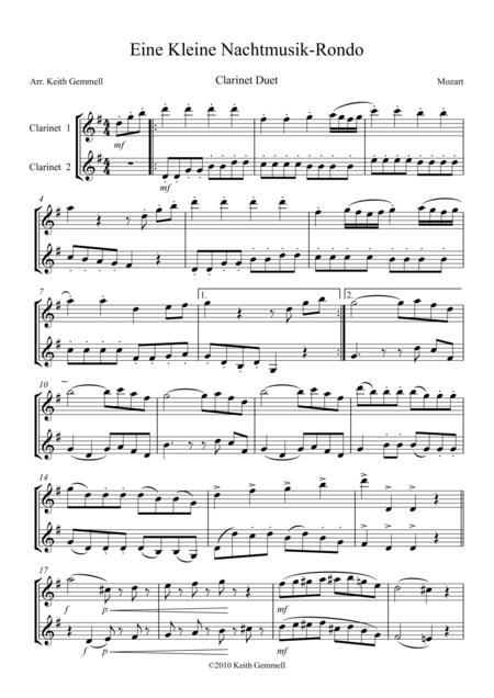 Eine Kleine Nachtmusik – Rondo: Clarinet Duet