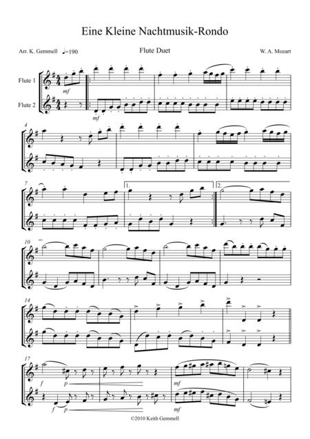 Eine Kleine Nachtmusik – Rondo: Flute Duet
