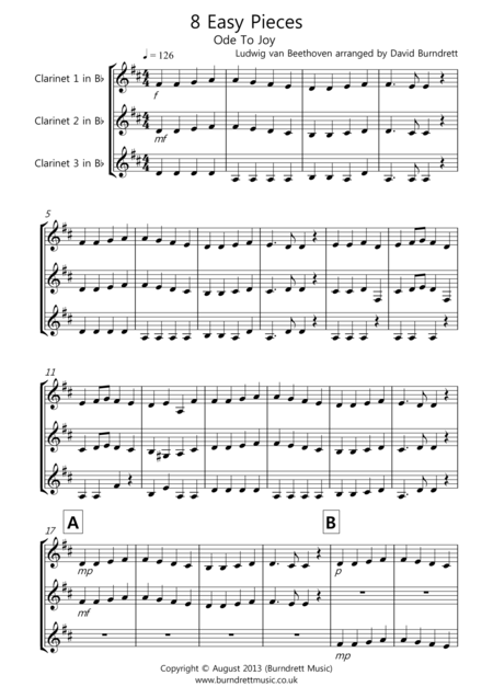 8 Easy Trios, For Clarinet