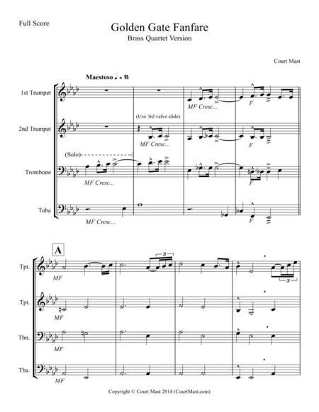 Golden Gate Fanfare - Brass Quartet Version