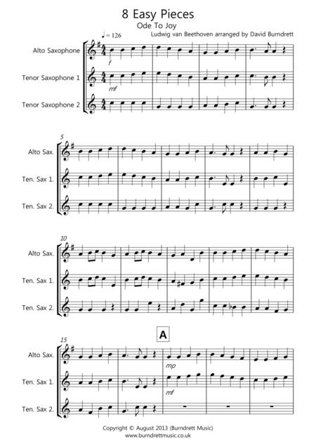 8 Easy Trios, For Saxophone