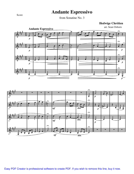 Andante Espressivo, from Sonatine No. 3