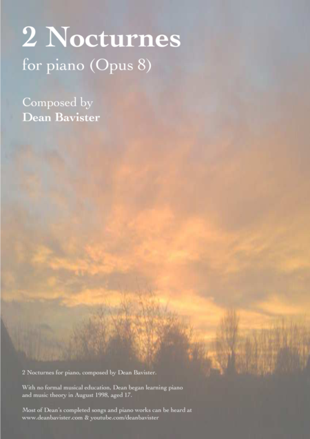 2 Nocturnes for Piano (Opus 8)