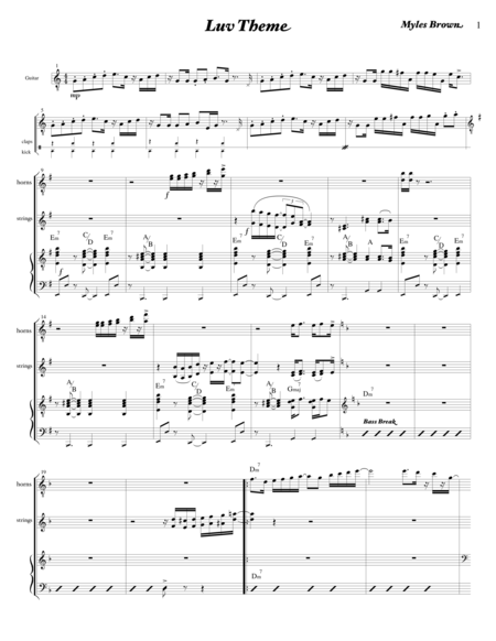 Luv Theme lead sheet