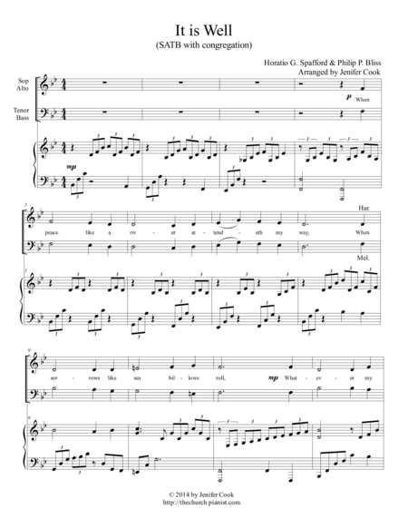 It is Well (Easy SATB)