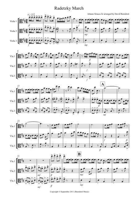 Radetzky March for Viola Trio