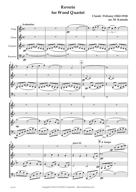 Reverie for Wood Quartet