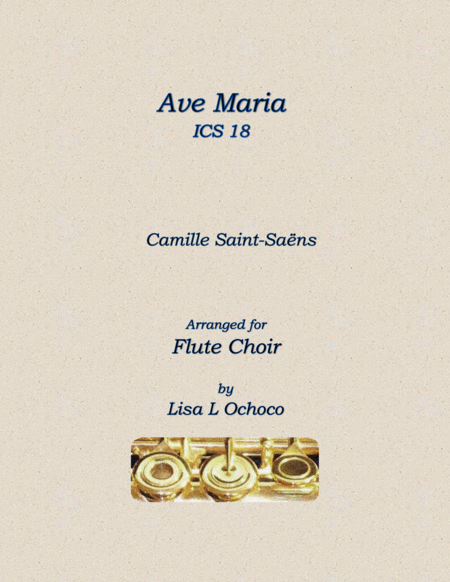 Ave Maria for Flute Quintet or Flute Choir