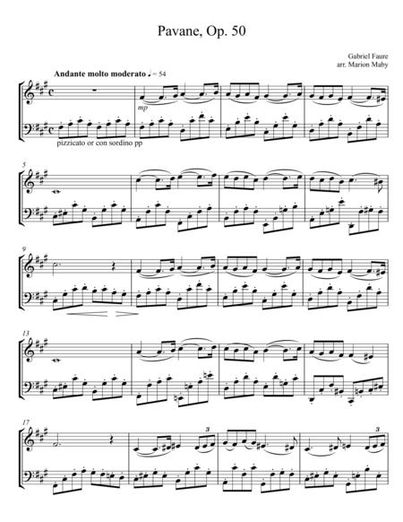Faure Pavane for Violin & Cello Duet