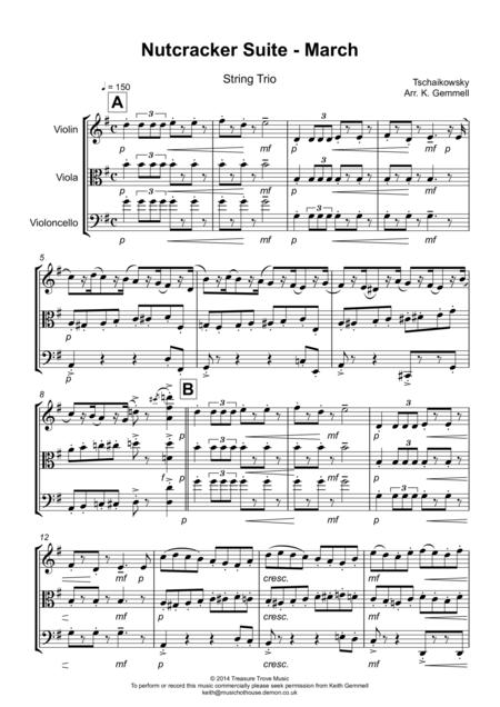 Nutcracker Suite - March: String Trio