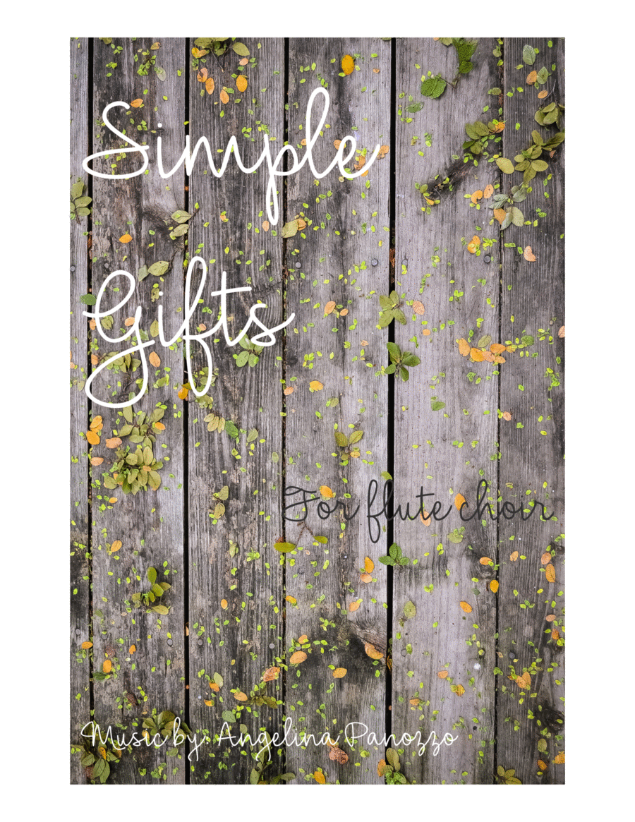 Simple Gifts for flute choir