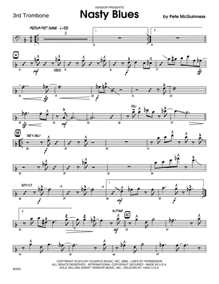 Nasty Blues - Trombone 3