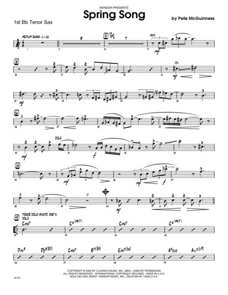 Spring Song - Tenor Sax 1