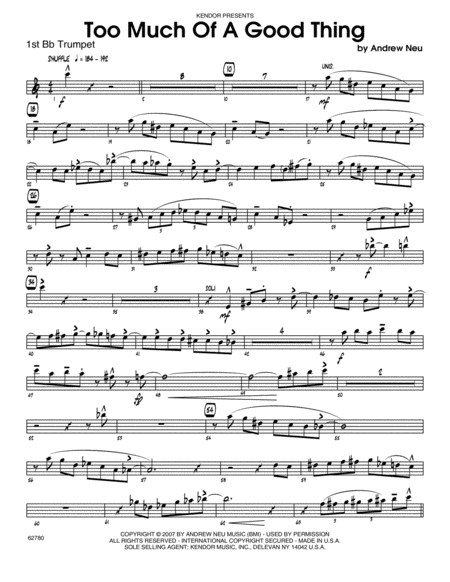 download too much of a good thing 1st bb trumpet sheet music by neu sheet music plus. Black Bedroom Furniture Sets. Home Design Ideas