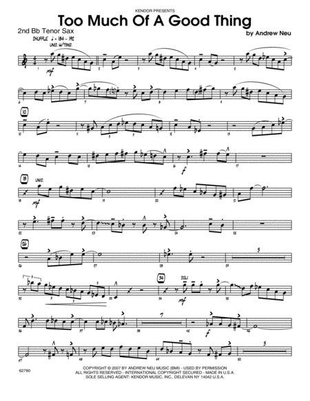 download too much of a good thing tenor sax 2 sheet music by neu sheet music plus. Black Bedroom Furniture Sets. Home Design Ideas