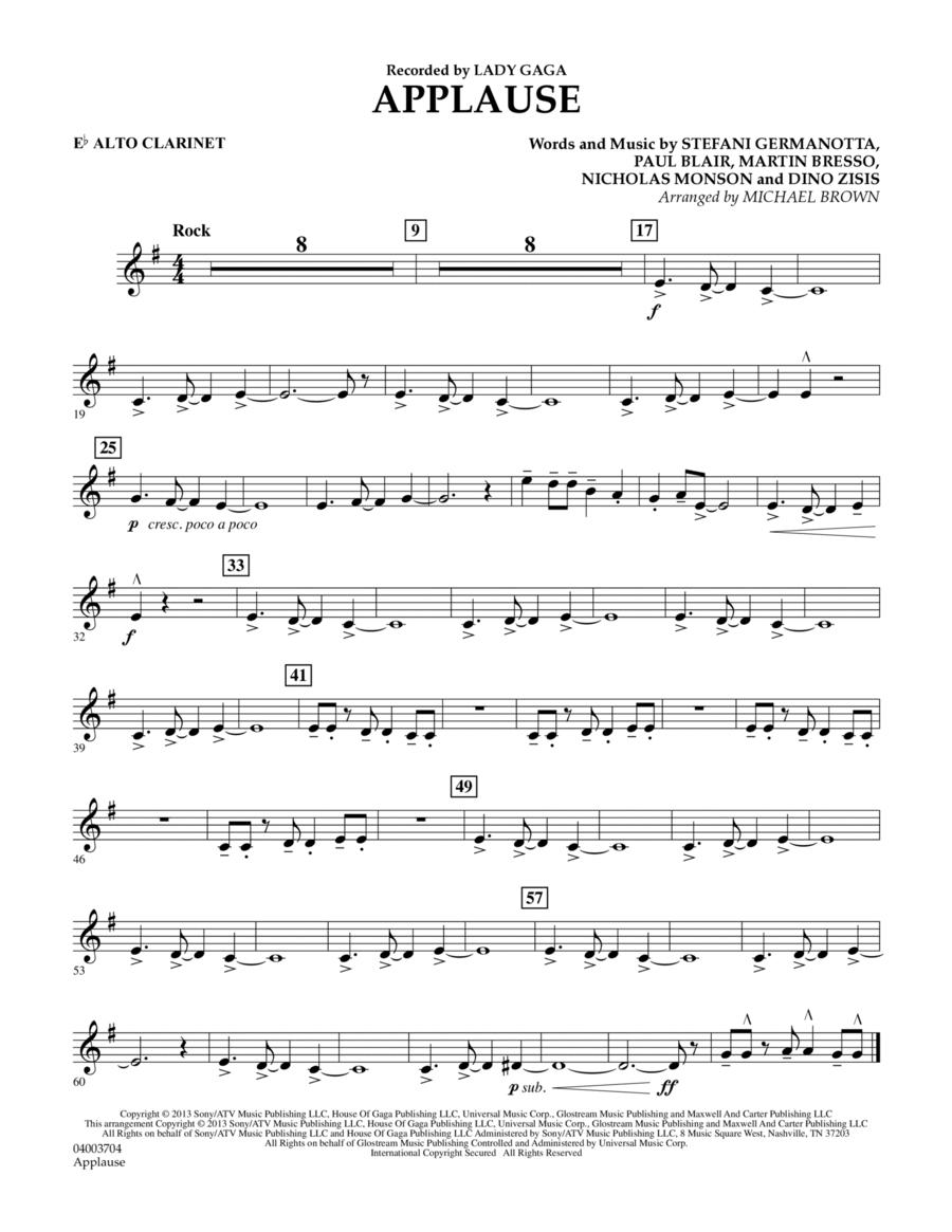 Applause - Eb Alto Clarinet