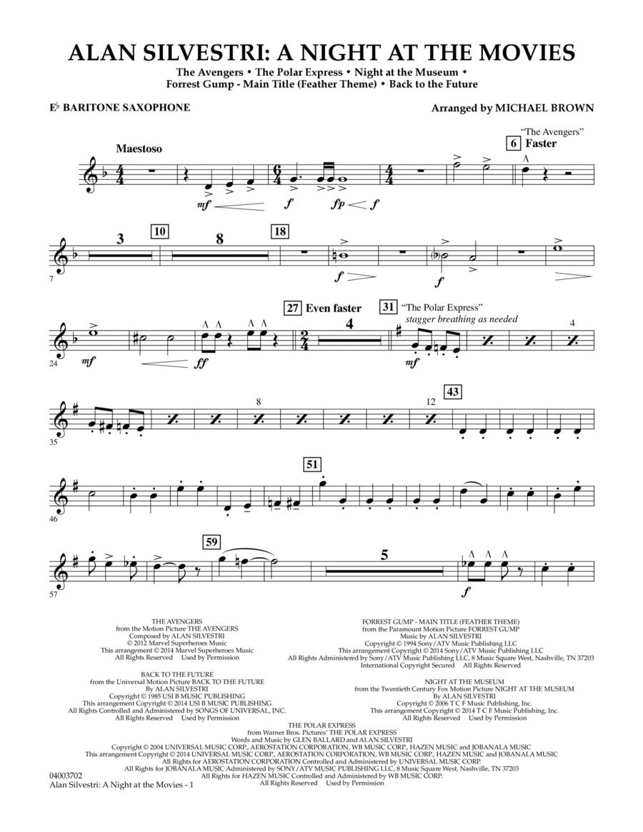 Alan Silvestri: A Night at the Movies - Eb Baritone Saxophone