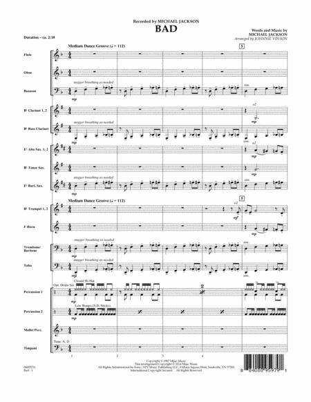 Bad - Conductor Score (Full Score)