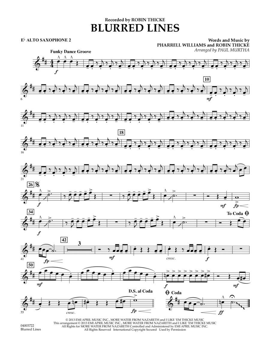 Blurred Lines - Eb Alto Saxophone 2