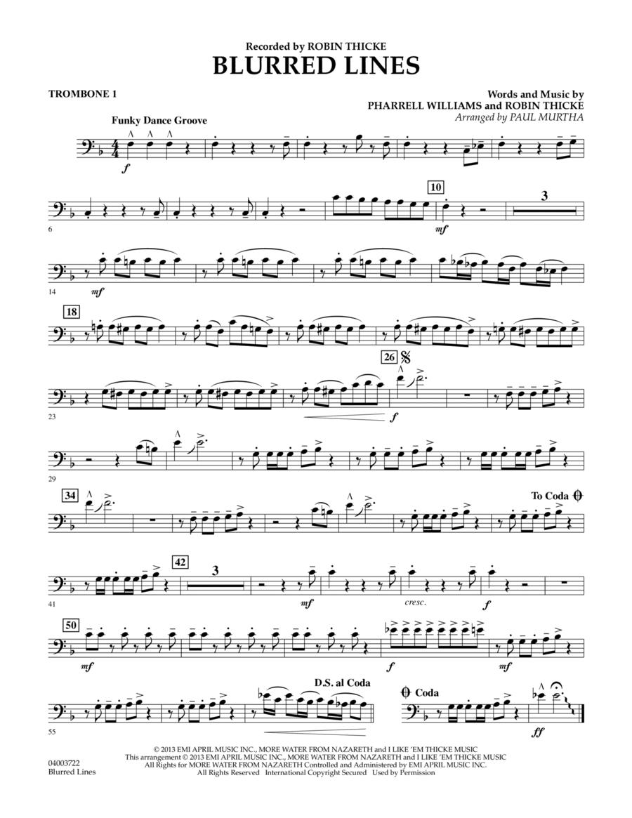 Blurred Lines - Trombone 1