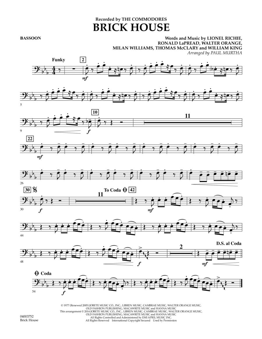 Brick House - Bassoon