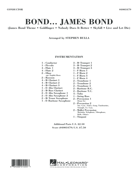 Bond... James Bond - Conductor Score (Full Score)