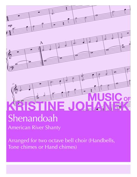 Shenandoah (2 octave handbells, tone chimes or hand chimes)