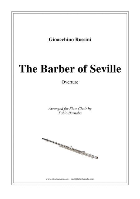 The Barber of Seville - Overture for Flute Choir
