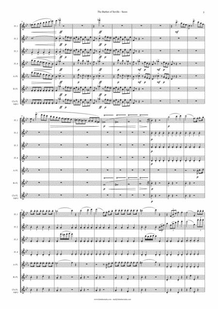 The Barber of Seville - Overture for Flute Choir