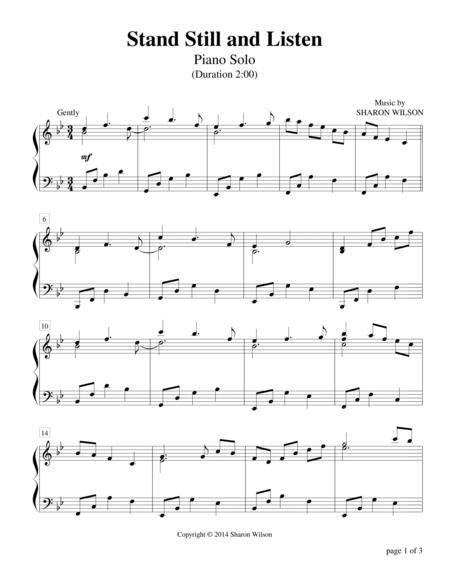 Stand Still and Listen (Piano Solo)