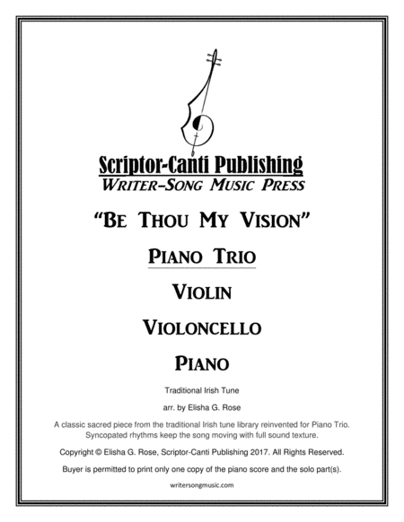 Be Thou My Vision Piano Trio