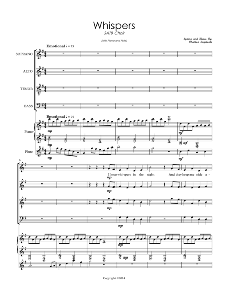 Whispers In The Night (SATB Choir)