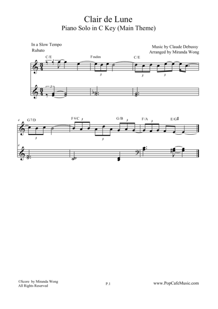 Clair de Lune - Famous Classical Piano Music