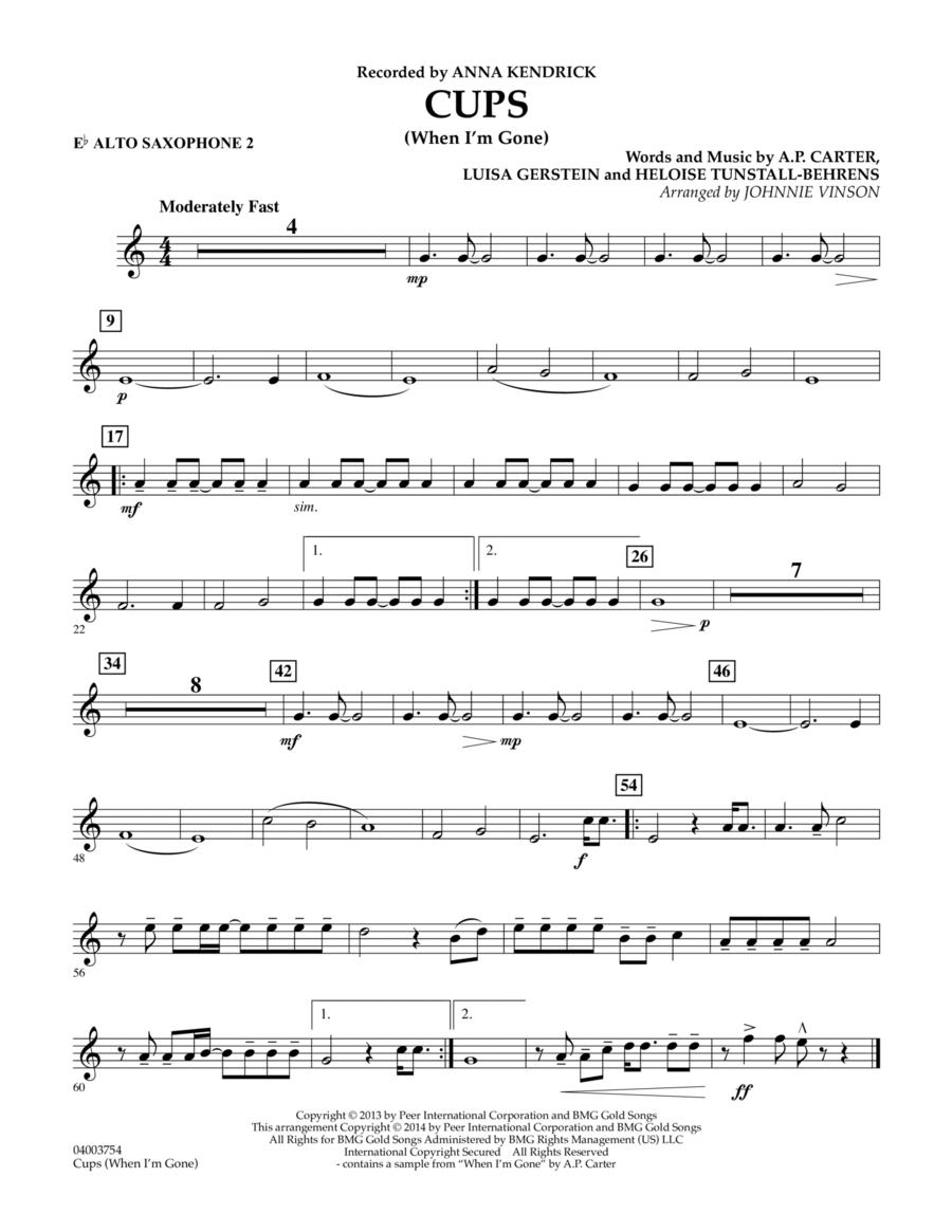 Cups (When I'm Gone) - Eb Alto Saxophone 2