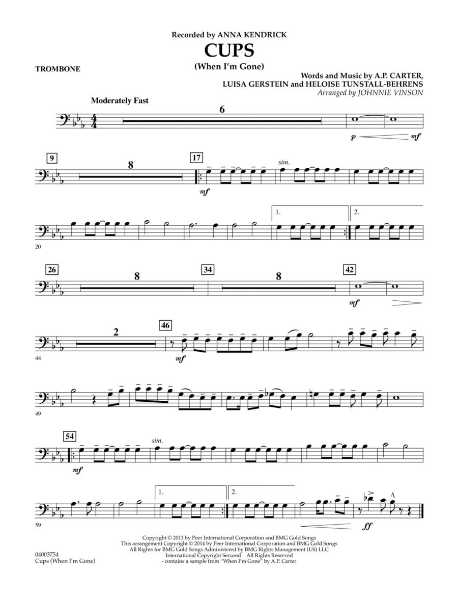 Cups (When I'm Gone) - Trombone
